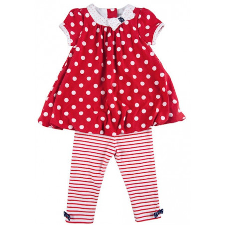 Little Me 12-24mo Girls' Red Bubble Dress w/Leggings