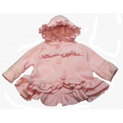 Pink Fleece Short Coat w/Hoodf by Isobella & Chloe