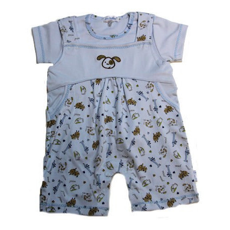 Pima Cotton Knit Woof Doggy Overall w/Shirt by My Baby