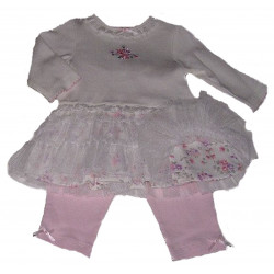 3-9 MO Enchanted Garden Dress w/ Leggings by Little Me