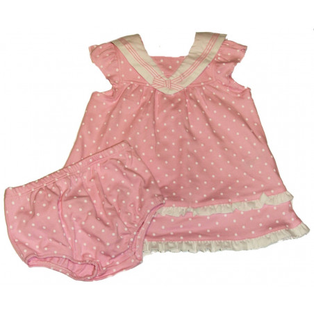 Pink Ruffles & Dots Nautical Dress w/DC by Little Me