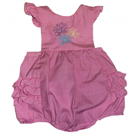 3-9 MO Infant Girls Petit Ami Ruffle Bottom Sunsuit