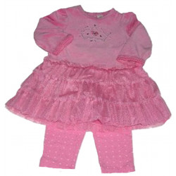 Little Me 12-24 Mo. Princess Velour Dress w/Leggings