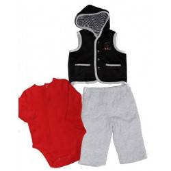 Train Station 3 PC Vest Set by Little Me