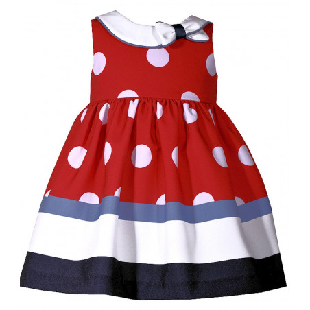 Bonnie Baby Dot Border Nautical Dress