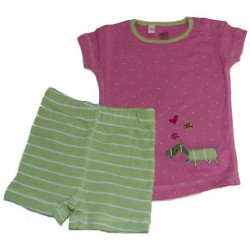 12-24 Month Girls Petit Lem Lime Dots PJ's