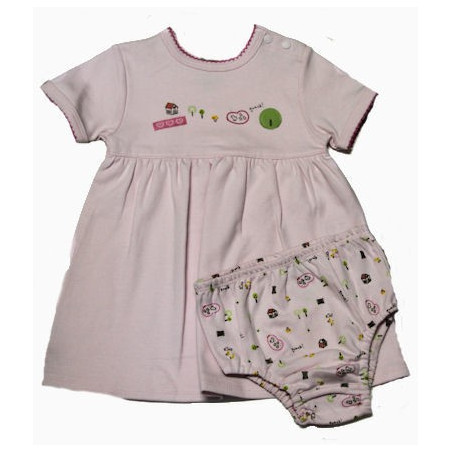 Kushies Playtime Baby Girl Dress w/Diaper Cover