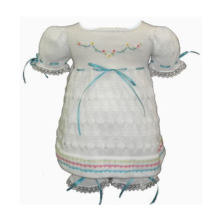 Infant Girl Will'beth Ribbons Dress,Bloomers, Headband