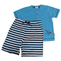 Baby Baby Flying Stripes Short PJ's Petit Lem