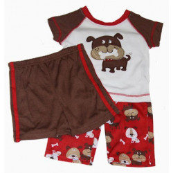 Baby Boy Little Me Dog & Bones 3 Pc. PJ's