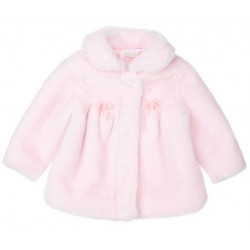 LeTop 12-24 Mo.Girls Pink Faux Fur Coat
