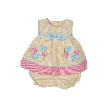 Samara 3-24 MO Yellow Daisy Dress Set