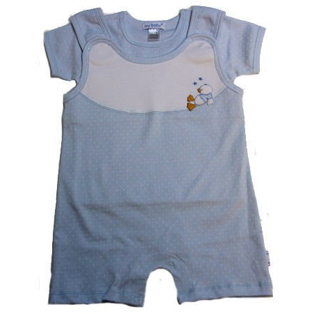Pima Cotton Knit Swing' Duck Short Overall w/Shirt by My Baby