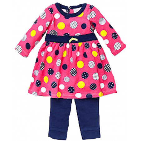 Infant Girl Multi Dots Dress w/ Leggings by Offspring