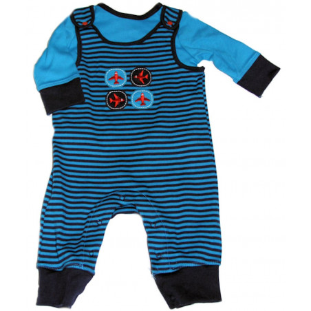 Airplane Knit Overall w/Shirt by Offspring