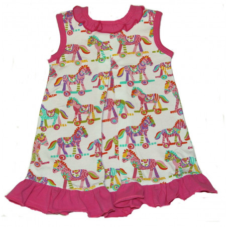Painted Horses Onesie/Dress by Maison Chic
