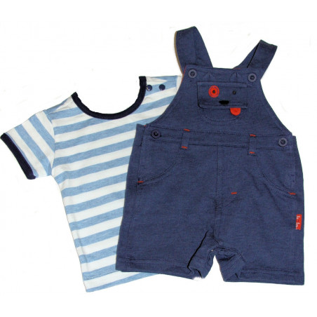 LeTop 'Buddy The Bulldog' Shortall & Shirt Set