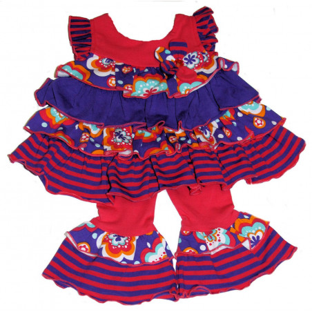 Bonnie Baby Baby-girls Multi Tiered Dress w/ Capri