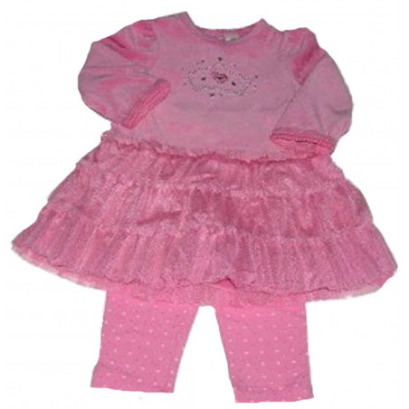 Little Me Princess Velour Dress w/Leggings