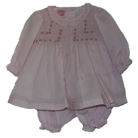 Infant Girl Batiste Will'beth Long Sleeve Dress w/Bloomers