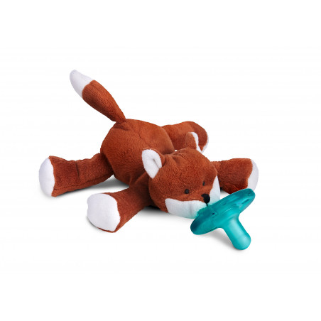 WubbaNub Reddish Brown Fox Infant Pacifier