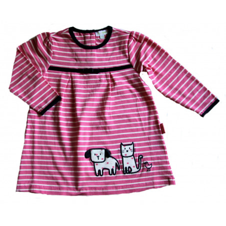 LetTop Miss Kitty & Friends Stripe Dress