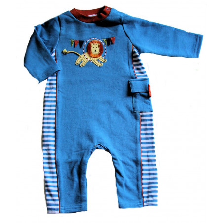 LeTop Baby-boys Marvelour Lion French Terry Coverall