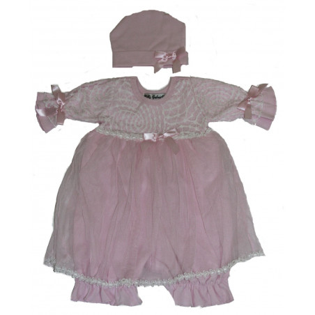 BeBe Gabrielle Baby-girls Knit Bloomer Dress w/Hat