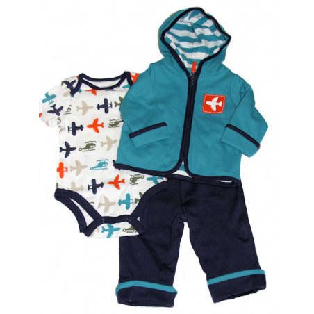 Baby Boy's Airport 3 Pc. Jacket Set by Off Spring