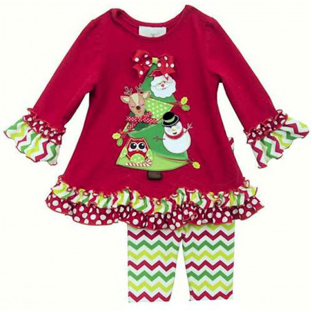 Rare Editions Baby-girls Decorated Tree Dress w/Leggings