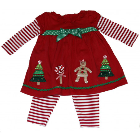 Good Lad 12-24 Mo.Holiday Applique Dress w/Leggings