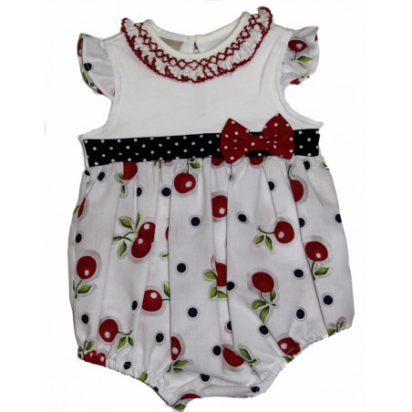 Little Threads Baby-girls Cherries Print Bubble