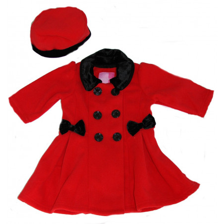 Good Lad Girls Double Breasted Fleece Coat w/Hat