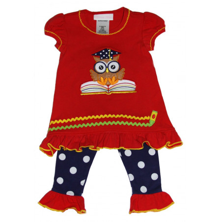 Bonnie Baby Wise Owl Knit Dress and Leggings