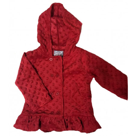 Three Sisters Red Minky Hooded Jacket