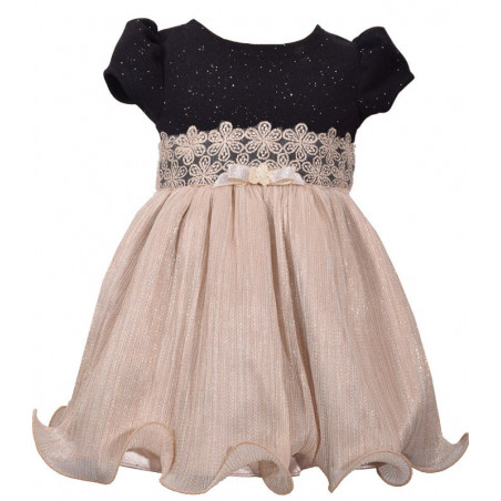 Bonnie Bay Glitter Knit/Pleat Dress and Diaper Cover
