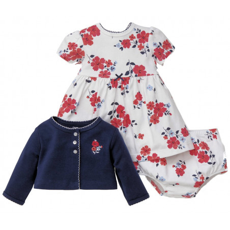 Little Me 3 PC. Jacket & Dress Set