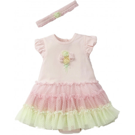 Little Me Pastel Bouquet Tutu w/ Headband