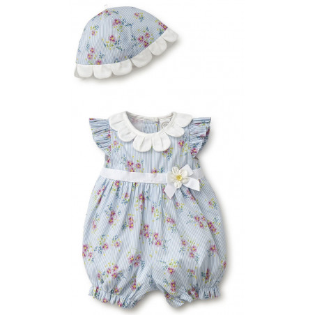 Little Me Blue Bubble Romper w/ Hat