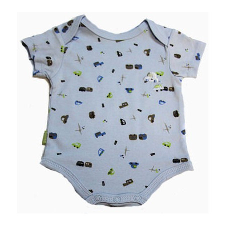 Kushies Newborn-12Mo. Boy Busy Traffic Onesie