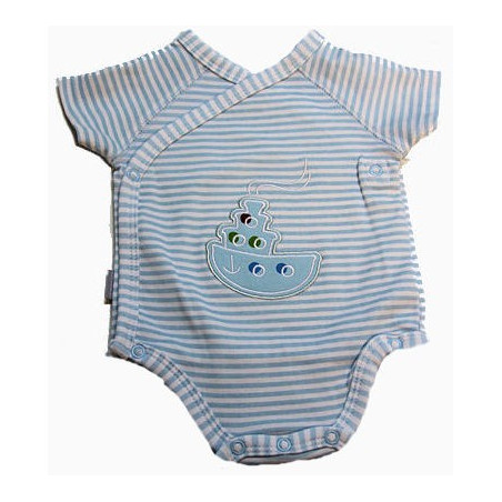 Kushies Nb-12 Mo. Boy Tugboat Onesie