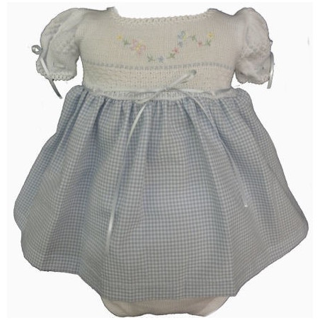 Baby Girl Will'beth Checks & Ribbon Dress w/Headband