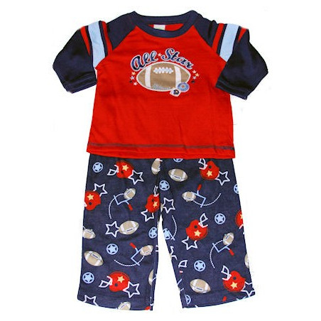 Little Me Baby Boy Football PJ's