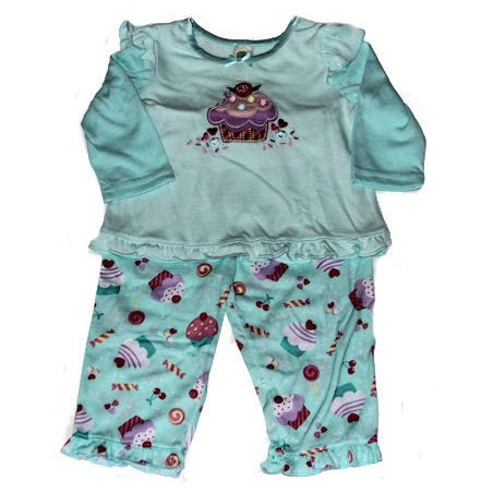 12-24mo Girls Cupcake 2 Pc. PJ's Set by Little Me