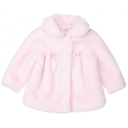 LeTop Pink Faux Fur Coat