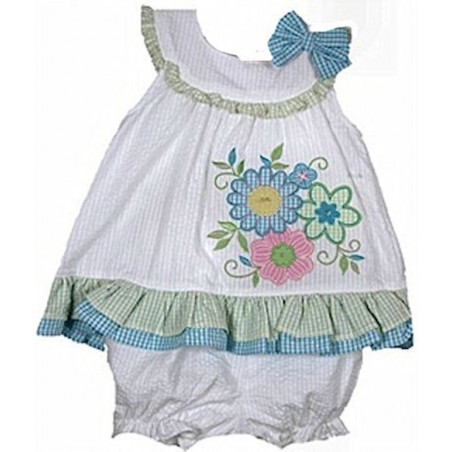 Samara 3-24 MO Happy Days Seersucker Dress w/DC