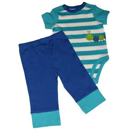 3-9 Mo. Boys Caterpillar Onesie w/Pants by Off Spring